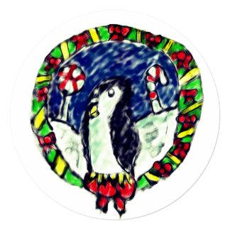 Cartão Natal do pinguim