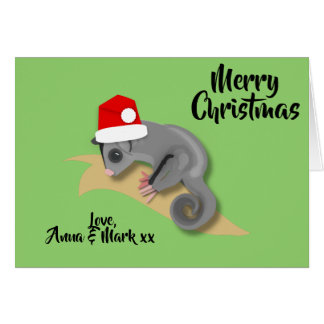 Cartão Natal do planador do açúcar do bebê