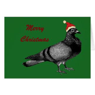 Cartão Natal do pombo