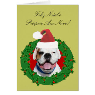 Cartão natal do pugilista de Feliz e Próspero Ano