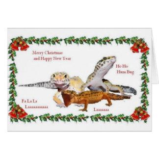 Cartão Natal do réptil
