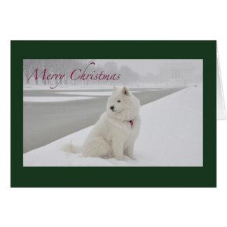 Cartão Natal do Samoyed (memorial de Lincoln)