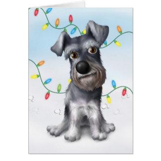 Cartão Natal do Schnauzer