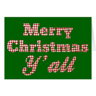 Cartão Natal do sul Houndstooth de cumprimento