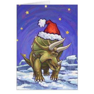 Cartão Natal do Triceratops
