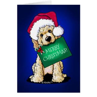 Cartão Natal Doodlemoji de KiniArt