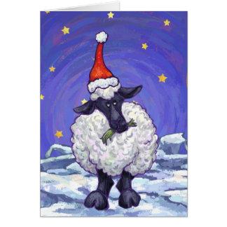 Cartão Natal dos carneiros