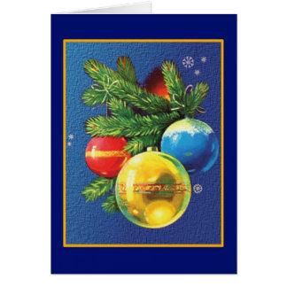 Cartão Natal dos ornamento do natal vintage