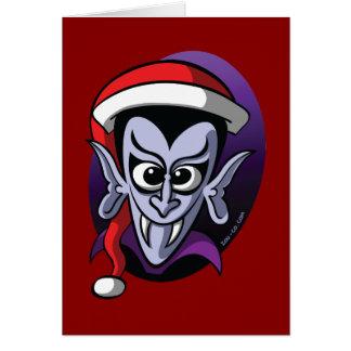 Cartão Natal Dracula