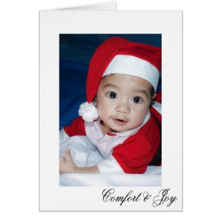 Cartão Natal elegante simples do conforto e da alegria
