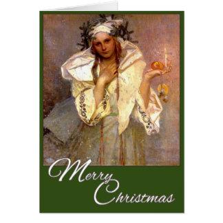Cartão Natal em América - Alphonse Mucha