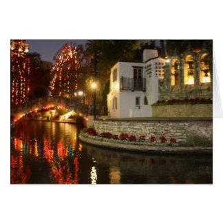 Cartão Natal em San Antonio Riverwalk