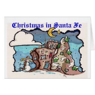 Cartão Natal em Santa Fé