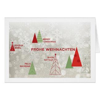 Cartão Natal em todo o mundo