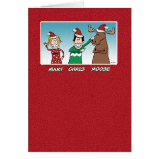 Cartão Natal engraçado: Alces de Mary Chris