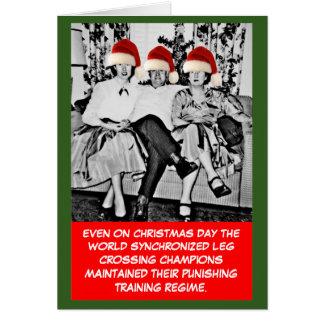 Cartão Natal engraçado da foto