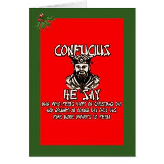 Cartão Natal engraçado de Confucius