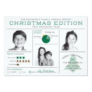 Cartão Natal engraçado de Infographic do boletim de