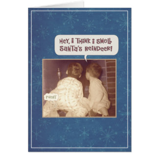 Cartão Natal engraçado do cheiro