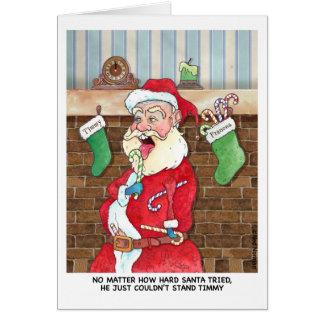 Cartão Natal: Esforços internos de Santa