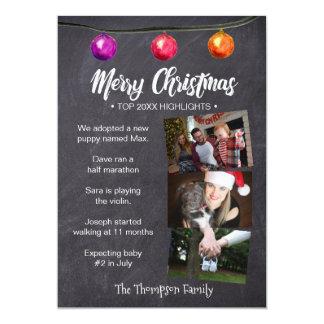 Cartão Natal, estilo do boletim de notícias, destaques