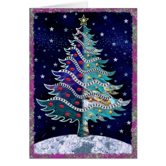 Cartão Natal estrelado