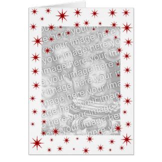 Cartão Natal estrelado vermelho