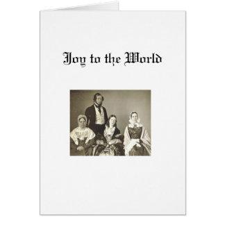 Cartão Natal - família do quacre