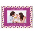 Cartão Natal feito sob encomenda do ouro & da foto das