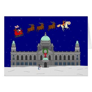 Cartão Natal feliz - câmara municipal de Belfast