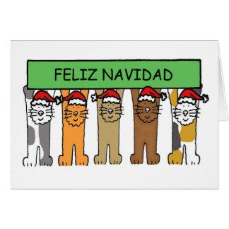 Cartão Natal feliz de Feliz Navidad no espanhol