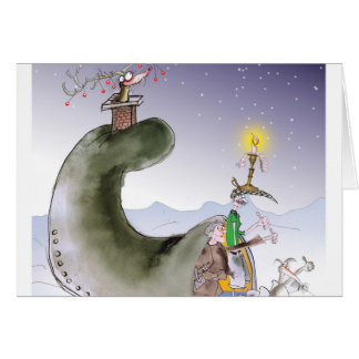 Cartão Natal feliz de yorkshire do amor
