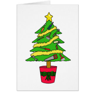 Cartão Natal feliz do trabalhador manual