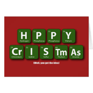 Cartão Natal feliz periódico
