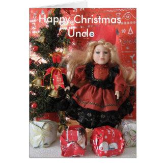 Cartão Natal feliz, tio
