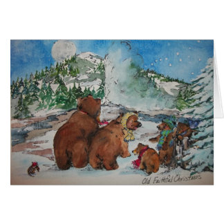 Cartão Natal fiel velho