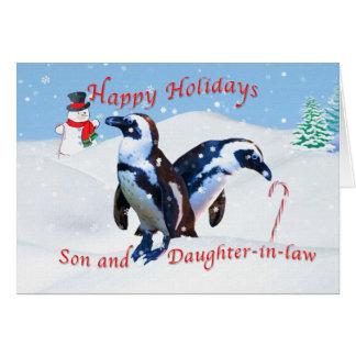 Cartão Natal, filho e nora