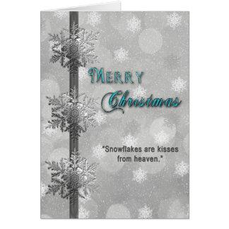 Cartão Natal - flocos de neve que cumprimentam