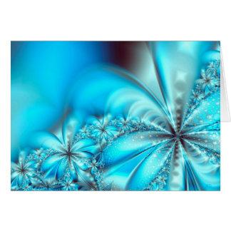 Cartão Natal gelado do Fractal