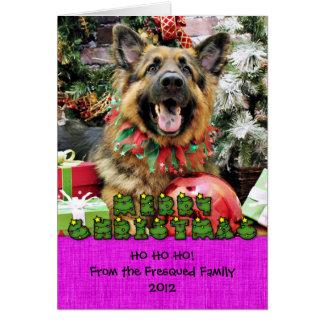 Cartão Natal - german shepherd - Thor