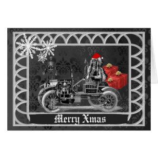 Cartão Natal gótico do steampunk do divertimento