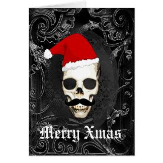 Cartão Natal gótico engraçado do papai noel