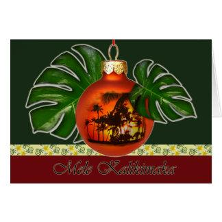 Cartão Natal havaiano 2