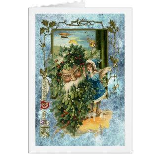 Cartão Natal impressionante do pai com torção do