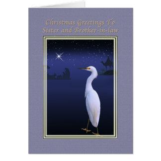 Cartão Natal, irmã e cunhado, religiosos