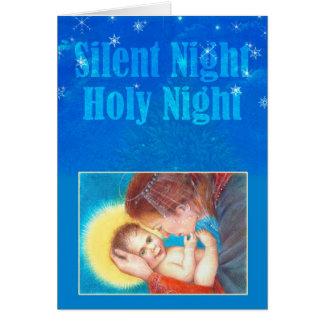 Cartão Natal mágico de Madonna & da criança
