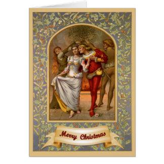 Cartão Natal medieval