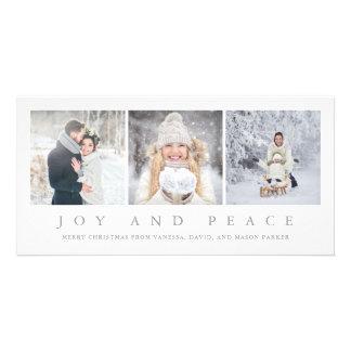 Cartão Natal moderno da alegria e da paz   três fotos