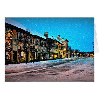 Cartão Natal na vila