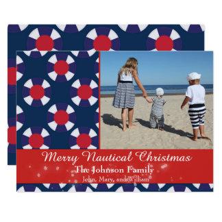 Cartão Natal náutico alegre